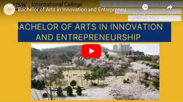 Bachelor of Arts in Innovation and Entrepreneurship at The International College